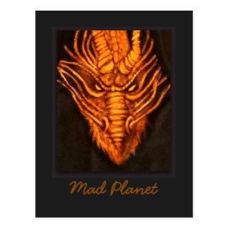 Cartão Postal Cabeça de bronze do dragão