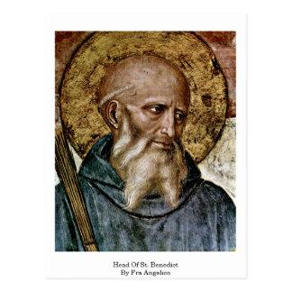 Cartão Postal Cabeça de St. Benedict por Fra Angelico