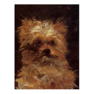 Cartão Postal Cabeça de um cão por Edouard Manet