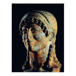 Cartão Postal Cabeça de uma mulher de Etruscan