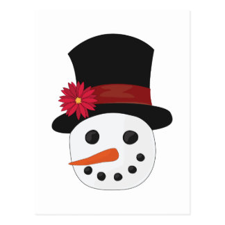 Cartão Postal Cabeça do boneco de neve