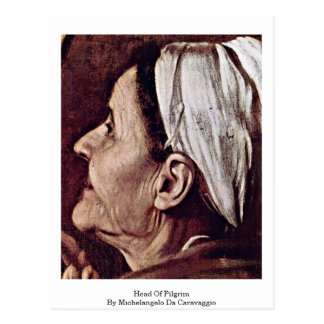 Cartão Postal Cabeça do peregrino por Michelangelo a Dinamarca