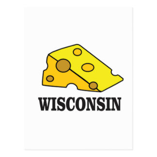 Cartão Postal Cabeça do queijo de Wisconsin
