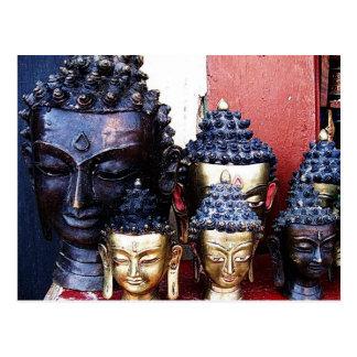 Cartão Postal Cabeças de Buddha