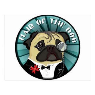 Cartão Postal Cabelo do merch do cão