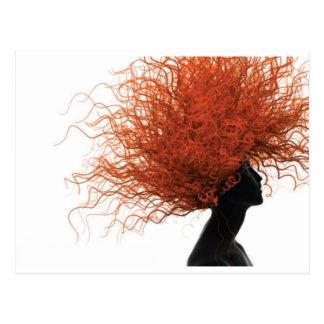 Cartão Postal cabelo vermelho