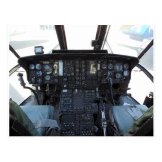 Cartão Postal Cabina do piloto do helicóptero