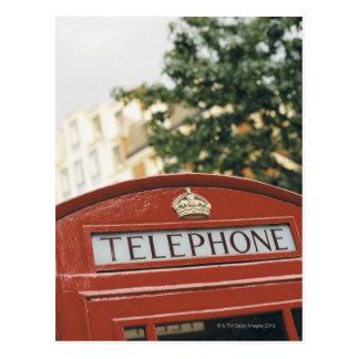 Cartão Postal Cabine de telefone em Londres Inglaterra