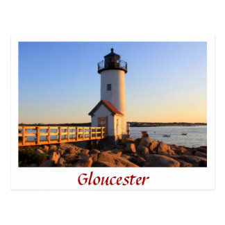 Cartão Postal Cabo Ann de Gloucester do farol de Annisquam