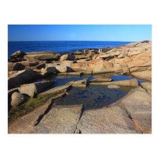 Cartão Postal Cabo Ann de Rockport da piscina da maré do ponto