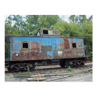 Cartão Postal Caboose oxidado