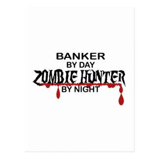 Cartão Postal Caçador do zombi do banqueiro