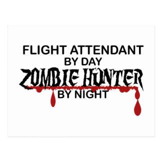 Cartão Postal Caçador do zombi dos hospedeiros de bordo