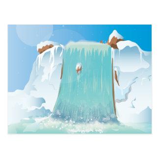 Cartão Postal Cachoeira ártica do gelo