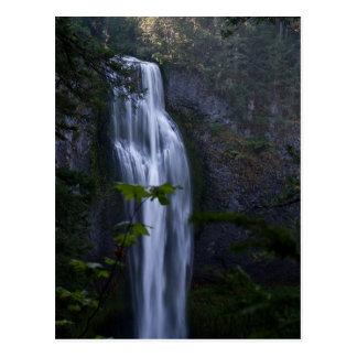 Cartão Postal Cachoeira da angra de sal, Oregon