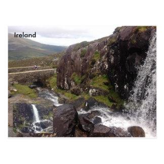 Cartão Postal Cachoeira da passagem de Connor, Dingle, Kerry do