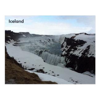 Cartão Postal Cachoeira de Gullfoss, Islândia
