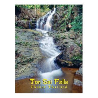 Cartão Postal Cachoeira de Sai da tonelada, Phuket, Tailândia