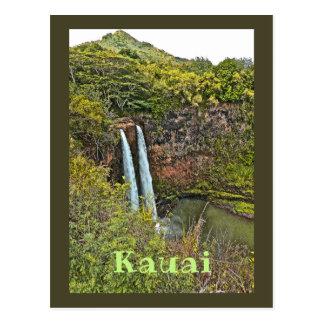Cartão Postal Cachoeira de Wailua em Kauai