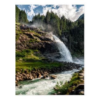 Cartão Postal cachoeira do krimml, Áustria