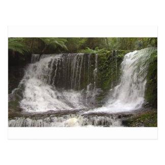 Cartão Postal Cachoeiras dos oásis em Tasmânia ao sul de