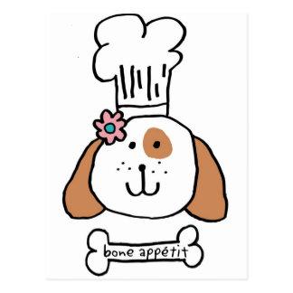Cartão Postal Cachorrinho do cozinheiro chefe