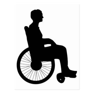 Cartão Postal Cadeira de roda