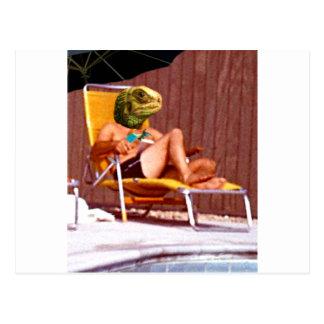 Cartão Postal Cadeira do lagarto de sala de estar