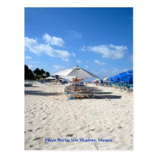 Cartão Postal Cadeiras de praia em Isla Mujeres