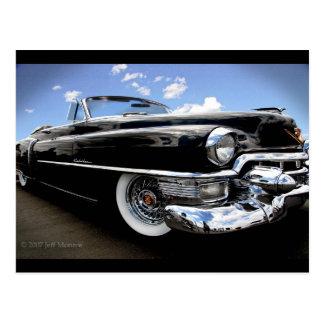 """Cartão Postal Cadillac 1950 do vintage de """"parte superior pano """""""
