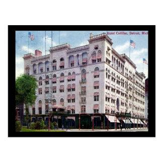 Cartão Postal Cadillac do hotel, vintage 1909 de Detroit