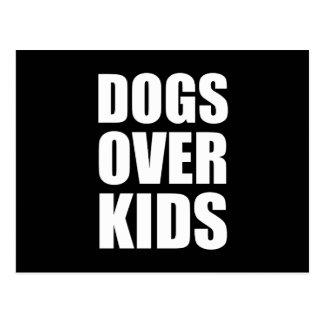 Cartão Postal Cães sobre citações engraçadas dos miúdos