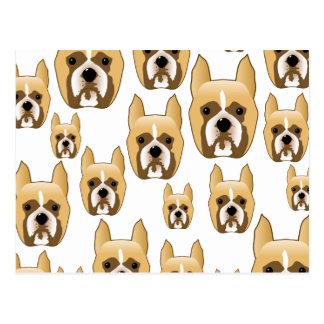 Cartão Postal Cães, um teste padrão dos Boxers.