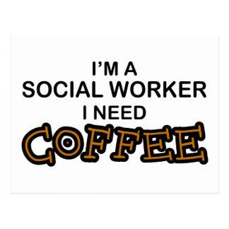 Cartão Postal Café da necessidade - assistente social