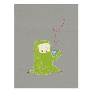 Cartão Postal café do bebendo do monstro