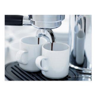 Cartão Postal Café do fazer da máquina de café