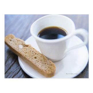Cartão Postal Café e Biscotti