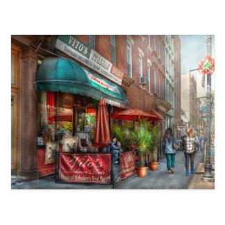 Cartão Postal Café - Hoboken, NJ - o supermercado fino italiano