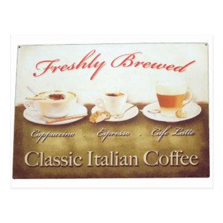 Cartão Postal Café italiano