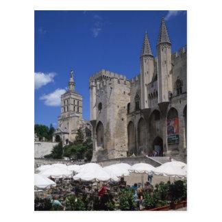 Cartão Postal Café, Le Palais DES Papes, Avignon, Vaucluse,