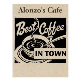 Cartão Postal Cafetaria personalizada