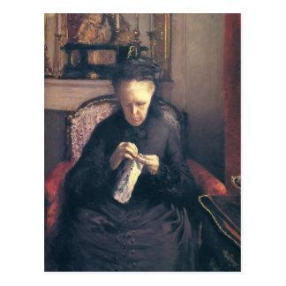Cartão Postal Caillebotte-Retrato de Gustave da senhora