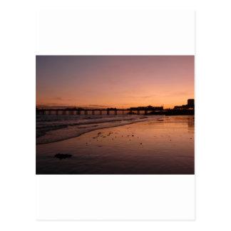 Cartão Postal cais de Brigghton no por do sol