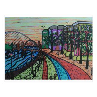 Cartão Postal Cais de River Tyne Newcastle