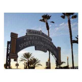 Cartão Postal Cais de Santa Monica