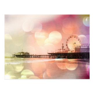 Cartão Postal Cais de Santa Monica - a foto cor-de-rosa
