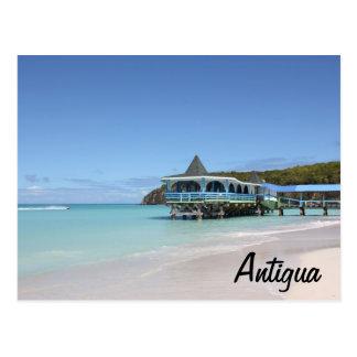 Cartão Postal Cais tropical do paraíso em Antígua