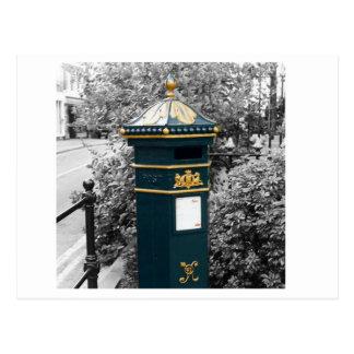 Cartão Postal Caixa de coluna britânica do Victorian - 1866