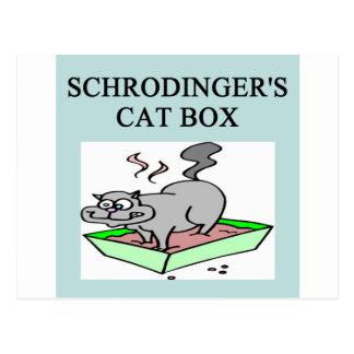 Cartão Postal caixa de gato dos schrodinger