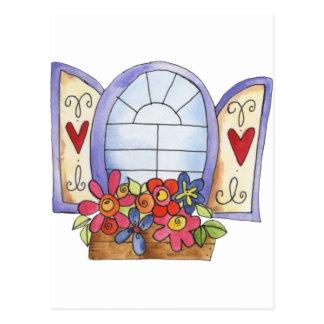 Cartão Postal Caixa de janela